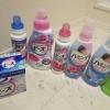 洗濯洗剤、柔軟剤、衣料用漂白剤の組み合わせ