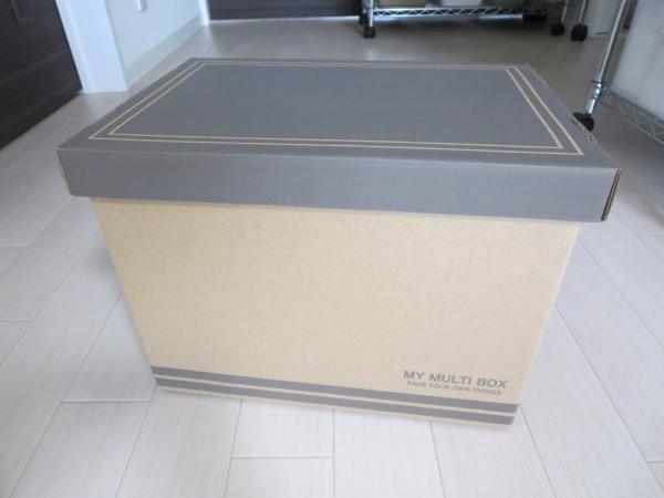 ダイソーの紙製収納BOX(A4サイズ34×24×26cm)