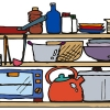 キッチン雑貨の片付け