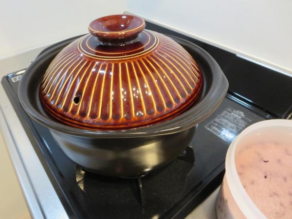 土鍋で炊飯