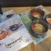 珈琲屋さんの厚焼きパンケーキリング 丸 3個組(ヨシカワ)、厚焼きパンケーキプレート(和平フレイズ)