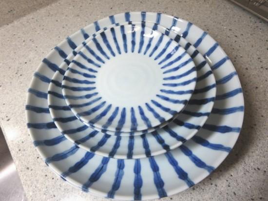染付け 濃十草(和食器)