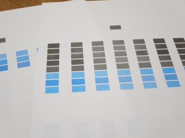 キャノンPIXUS TS5330 テスト印刷